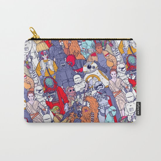 Space Toons in Color Carry-All Pouch