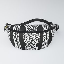 Cable Black Fanny Pack