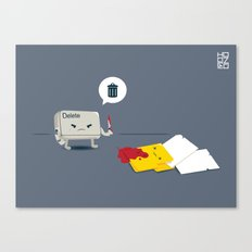 Dead Folder Canvas Print