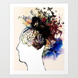 let your mind go free Art Print