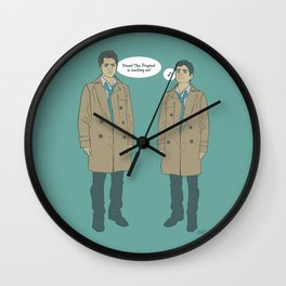 Cas & Kevin - Supernatural Wall Clock