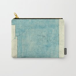 New Mexico State Map Blue Vintage Carry-All Pouch