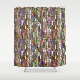 Rainbow Abalone Glass Tile Texture Shower Curtain
