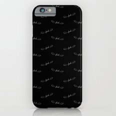 Flying Fuck - White on Black Slim Case iPhone 6s