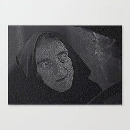Text Portrait of Igor with Full Script of Young Frankenstein Canvas Print
