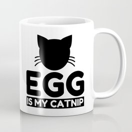 egg Lover Funny Cat Gifts Coffee Mug