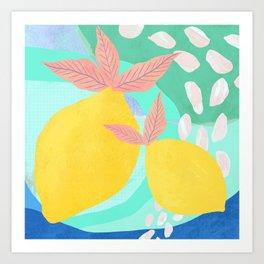 Pink Lemonade - Shapes and Layers no.32 Art Print