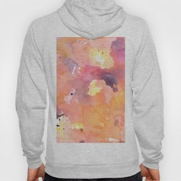 Abstract Watercolor Colorful Painting Hoody