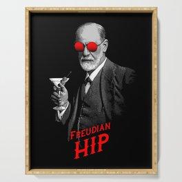 Hipster Psychologist Sigmund Freud Serving Tray
