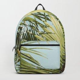 Summer Palm Leaves Vertical Backpack