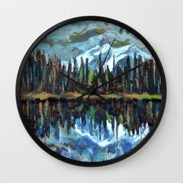 Sprague Lake, Rocky Mountain National Park Wall Clock