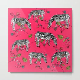 Psychedelic Pink Zebra Summer Daze - Bagaceous Metal Print