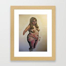 She Sang in the freak show Framed Art Print
