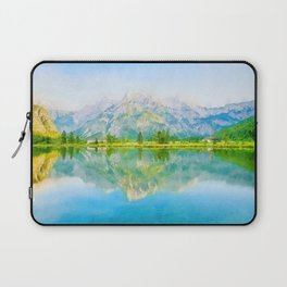 Lake reflections watercolor painting #5 Laptop Sleeve