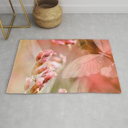 ROSE SPANGLES no5-QF-Butterfly Rug