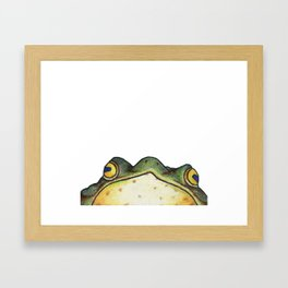 My Sensei is a Frog, Looking into You're Soul Framed Art Print