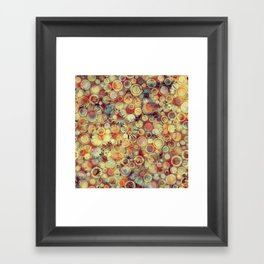 Dots on Flowers Framed Art Print