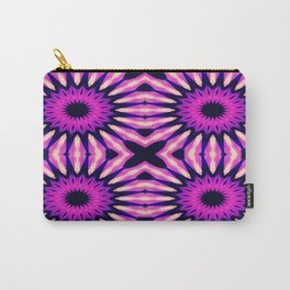 Fuchsia Purple Pinwheel Flowers Carry-All Pouch
