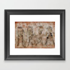 hidden ! Framed Art Print