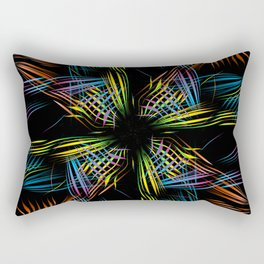 Art background from the branches of a palm tree. Abstraction on a theme of tropics and palms Rectangular Pillow