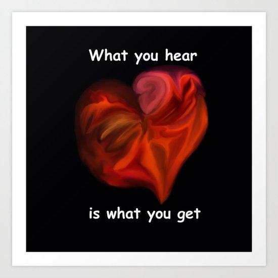 What you hear 2 - Analog Zine Art Print