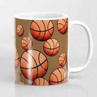 basketball Mugs featuring Basketball by joanfriends