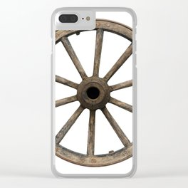 Old waggon wheel Clear iPhone Case