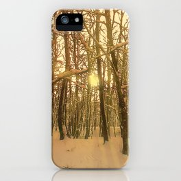 Winter Forest Snow And Light iPhone Case