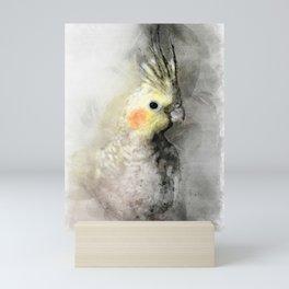Portrait of a cockatiel Mini Art Print