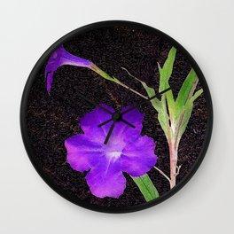 Mexican Petunias Wall Clock