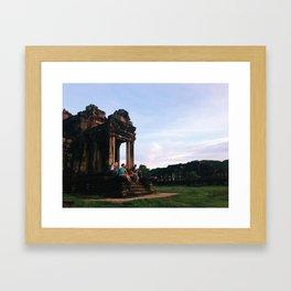 Happy Temple Friends Framed Art Print