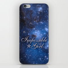 Impossible Girl iPhone & iPod Skin