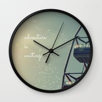 coasters Wall Clocks featuring Adventure is Waiting by RDelean