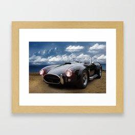 Black Car on the Beach Framed Art Print