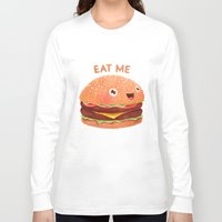 burger Long Sleeve T-shirts featuring Burger by Lime