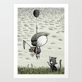 'Balloon' (Colour) Art Print