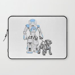 The Dog Walker. (Blue) Laptop Sleeve