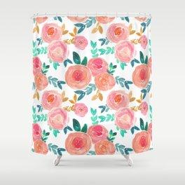 Dusky Florals Shower Curtain