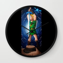 Link, Navi, and the Master Sword Wall Clock