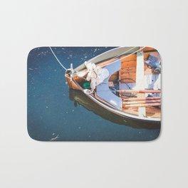 Nautical Fine Art Photography Boat in Water Bath Mat