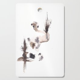 The Emperor- 151124  Abstract Watercolour Cutting Board