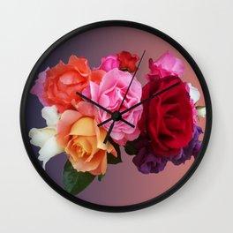 Carmen Miranda inspired roses Wall Clock