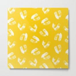 Yellow Swoosh Metal Print