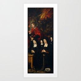 COECKE VAN AELST, PIETER Aalst Belgica, 1502 - Bruselas, 1550 Saint John the Evangelist with Two Lad Art Print