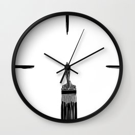 The Old Minimalistic Paint Brush Wall Clock