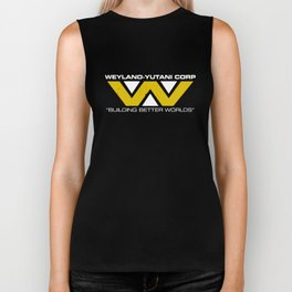 Weyland-Yutani Corp Mens Science Fiction Retro Alien Sci Science T-Shirts Biker Tank