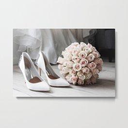 Wedding day, flowers white Metal Print