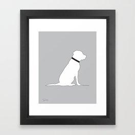 Modern Lab Silhouette Black and White Framed Art Print