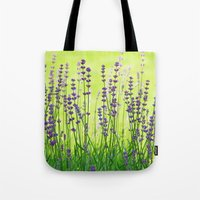 lavender Tote Bags featuring Lavender by Tanja Riedel