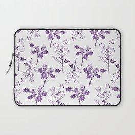 Watercolor Purple Berry Pattern Laptop Sleeve